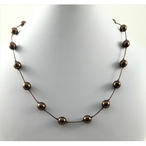 Everyday brown pearls necklace