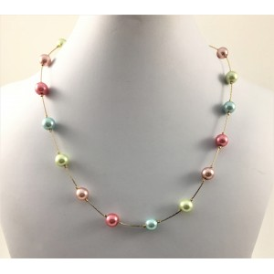Everyday multicolor pearls necklace