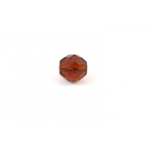 Facette transparent dark topaz 10mm
