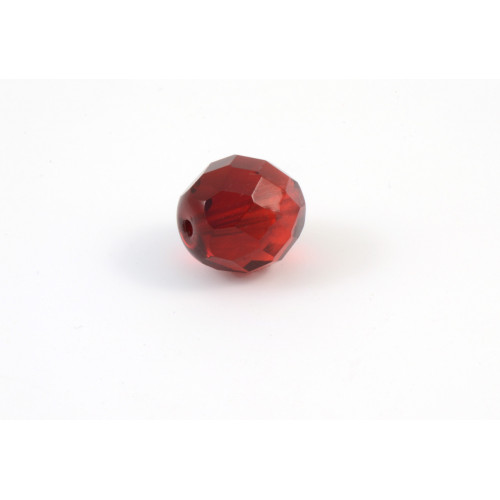 Facette transparent rouge 12mm