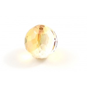 Facette crystal/gold 14mm