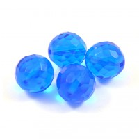 Facette bleu transparent 18mm*