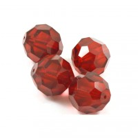 Facette rouge transparent 18mm