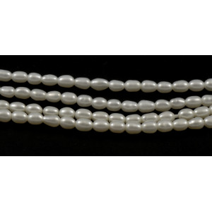 CULTURED FRESHWATER WHITE PEARLS RICE 3MM