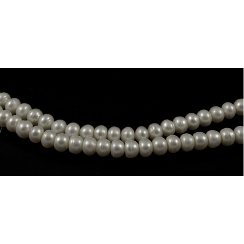 PERLES D'EAU DOUCE BLANCHE BUTTON 8MM