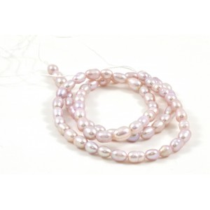 CULTURED FRESHWATER MAUVE PEARLS RICE 4MM