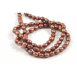 CULTURED FRESHWATER BRONZE PEARLS RICE 4MM