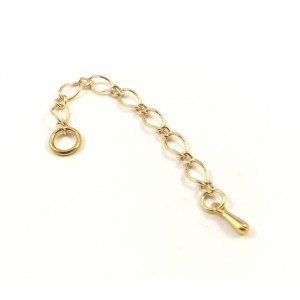 Gold plated 2 inches chain extension