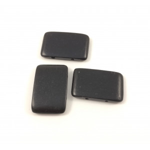 Billes de bois 30x20 mm deux trous rectangle plat noir