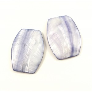 Billes mother-of-pearl coquillage rectangle plat arrondi mauve*