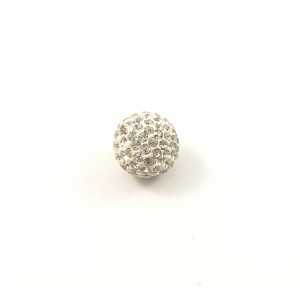 Bille pavé style shamballa 14 mm cristal clair*