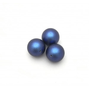 Swarovski perles (5810) ronde 10mm iridescent dark blue