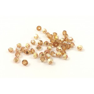 BICONE SWAROVSKI (5328) 3MM CRYSTAL METALLIC SUNSHINE
