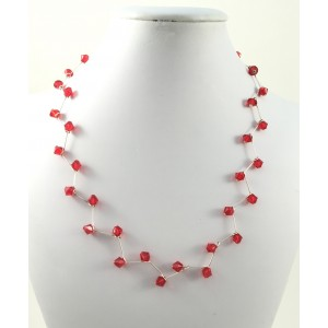 Collier arbre rouge