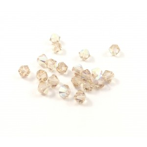BICONE SWAROVSKI (5328) 4MM LIGHT SILK AB
