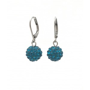 Blue shiny earrings
