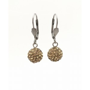 Boucles d'oreilles brillantes or