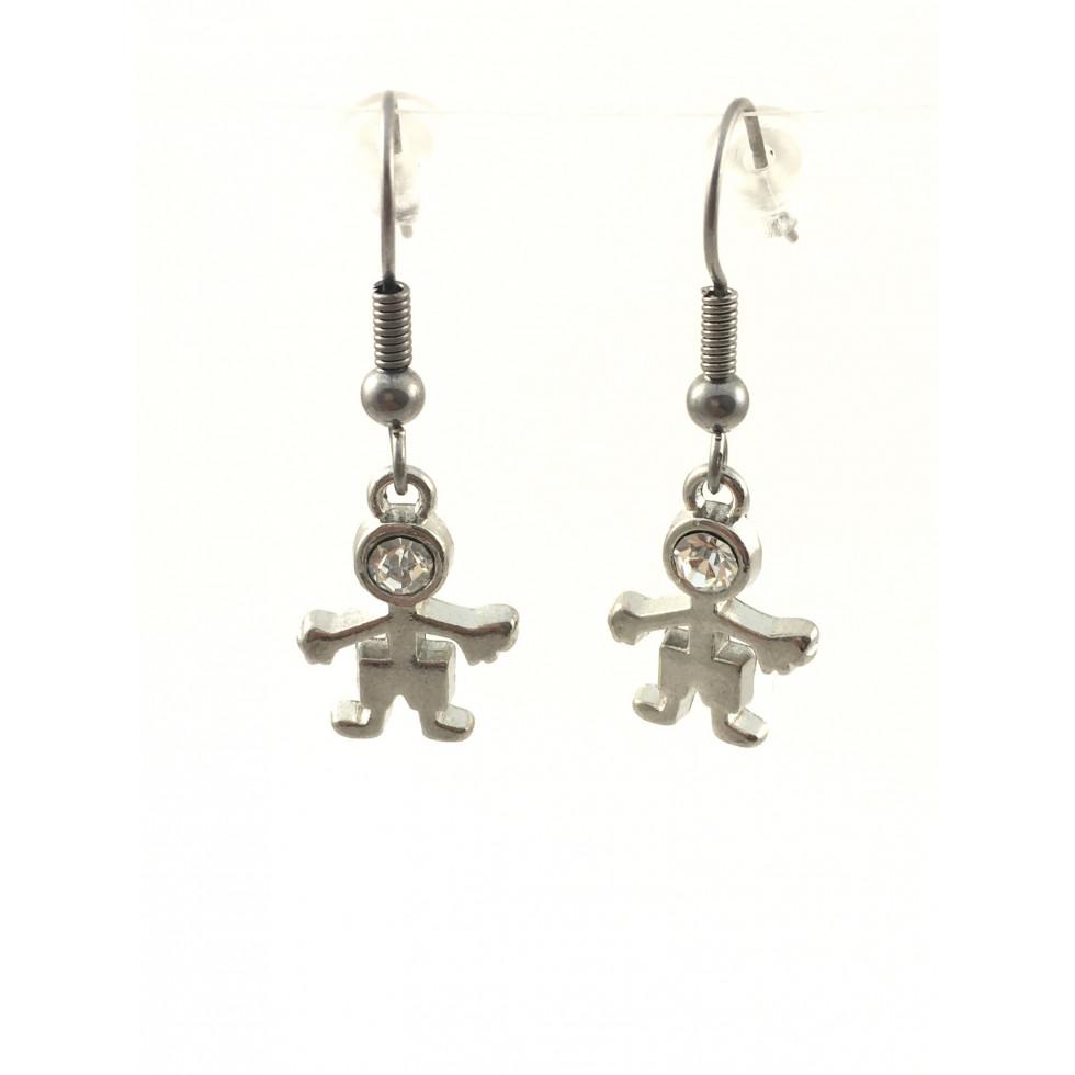 boucles d 39 oreilles bonhomme perles et cr ations. Black Bedroom Furniture Sets. Home Design Ideas