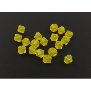 BICONE SWAROVSKI (5328) 6MM YELLOW OPAL