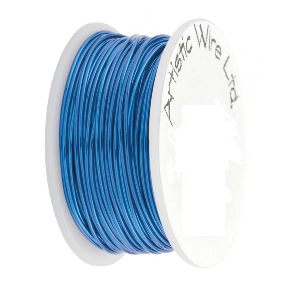 Fils-22gauge-Artistic-wire-Silver-Blue-bleu
