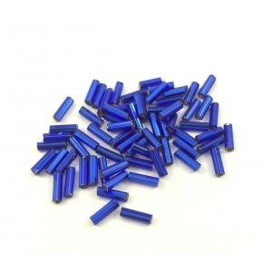 Tube de verre Czech bleu royal 6x2 mm